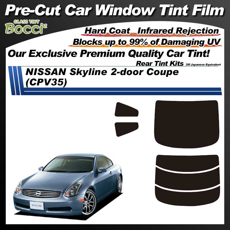NISSAN Skyline 2-doors R35 (CPV35) Pre-Cut Car Tint Film UV IR 3M Japanese Equivalent