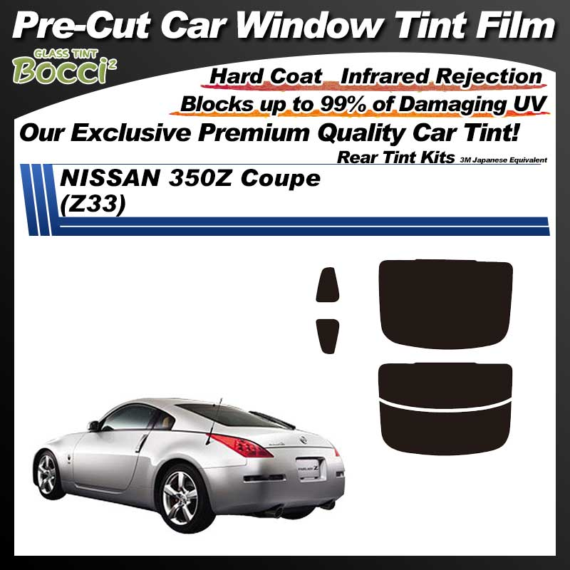 NISSAN Fairlady Z 350Z (Z33) Pre-Cut Car Tint Film UV IR 3M Japanese Equivalent