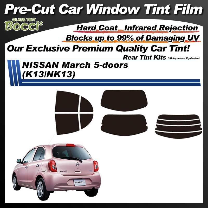 NISSAN March 5-doors (K13/NK13) Pre-Cut Car Tint Film UV IR 3M Japanese Equivalent