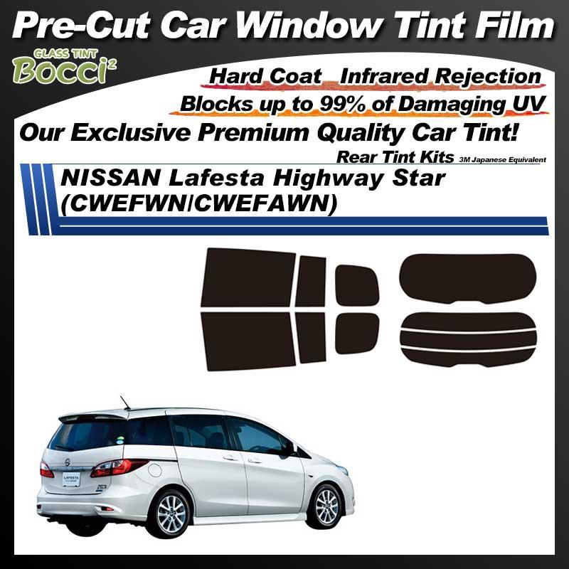 NISSAN Lafesta Highway Star (CWEFWN/CWEFAWN) Pre-Cut Car Tint Film UV IR 3M Japanese Equivalent