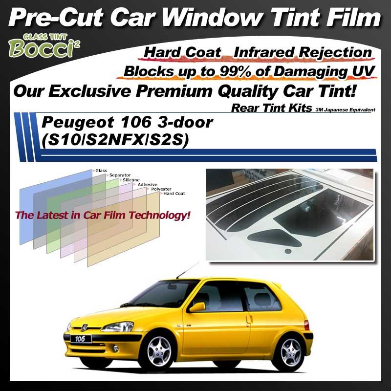 Peugeot 106 3-door (S10/S2NFX/S2S) Pre-Cut Car Tint Film UV IR 3M Japanese Equivalent