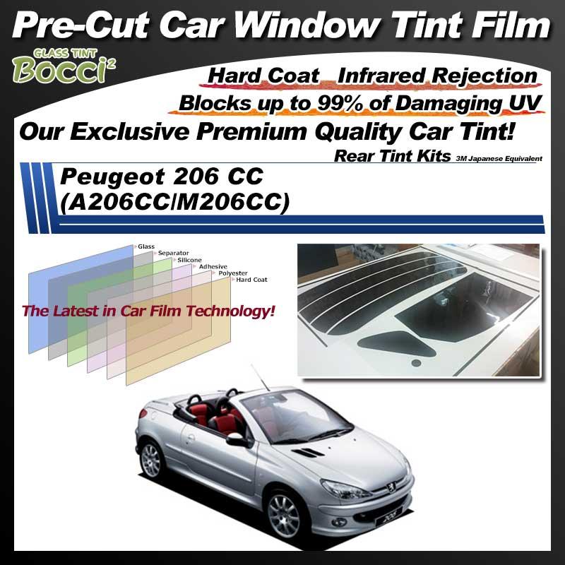 Peugeot 206 CC (A206CC/M206CC) Pre-Cut Car Tint Film UV IR 3M Japanese Equivalent