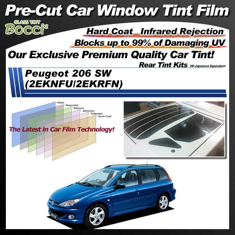 Peugeot 206 SW (2EKNFU/2EKRFN) Pre-Cut Car Tint Film UV IR 3M Japanese Equivalent