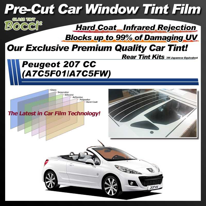Peugeot 207 CC (A7C5F01/A7C5FW) Pre-Cut Car Tint Film UV IR 3M Japanese Equivalent
