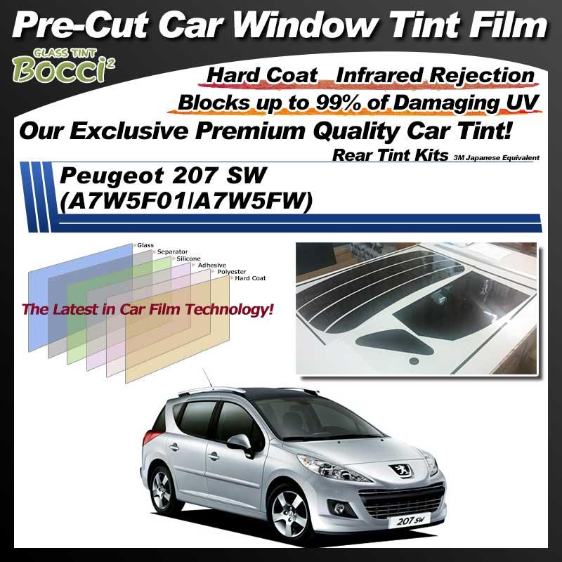 Peugeot 207 SW (A7W5F01/A7W5FW) Pre-Cut Car Tint Film UV IR 3M Japanese Equivalent