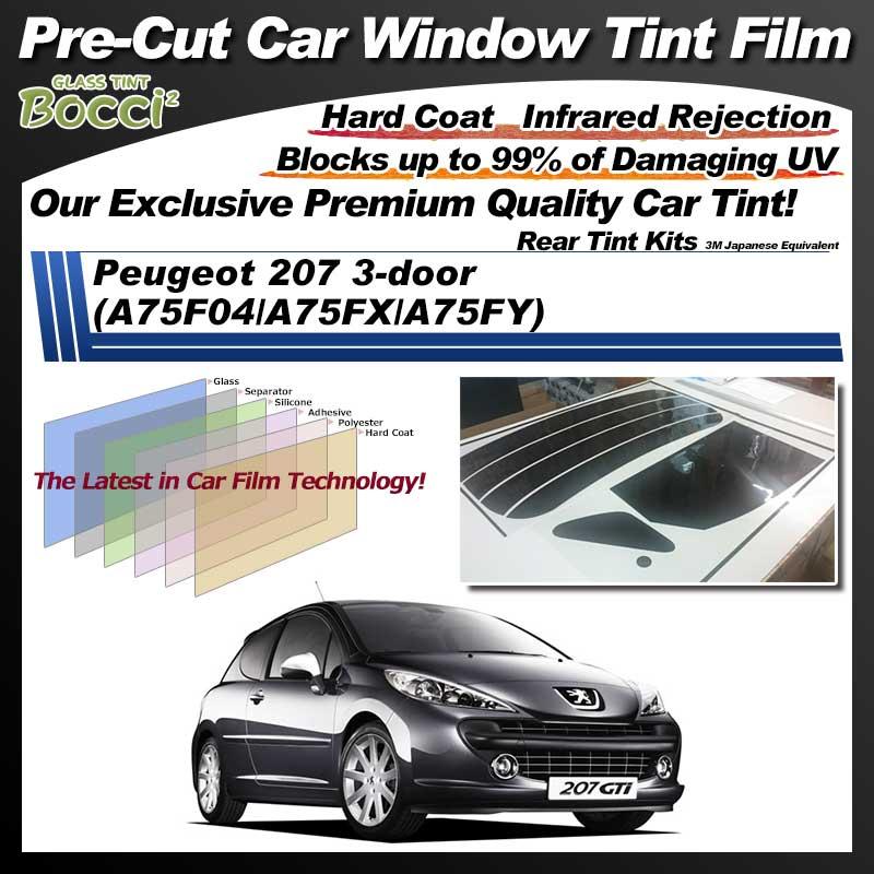 Peugeot 207 3-door (A75F04/A75FX/A75FY) Pre-Cut Car Tint Film UV IR 3M Japanese Equivalent