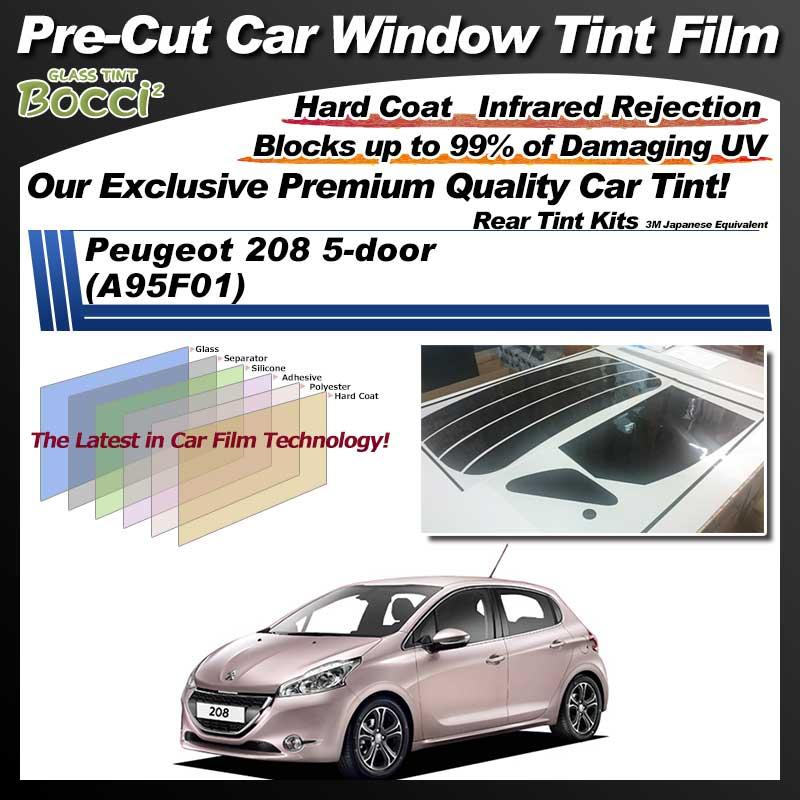 Peugeot 208 5-door (A95F01) Pre-Cut Car Tint Film UV IR 3M Japanese Equivalent