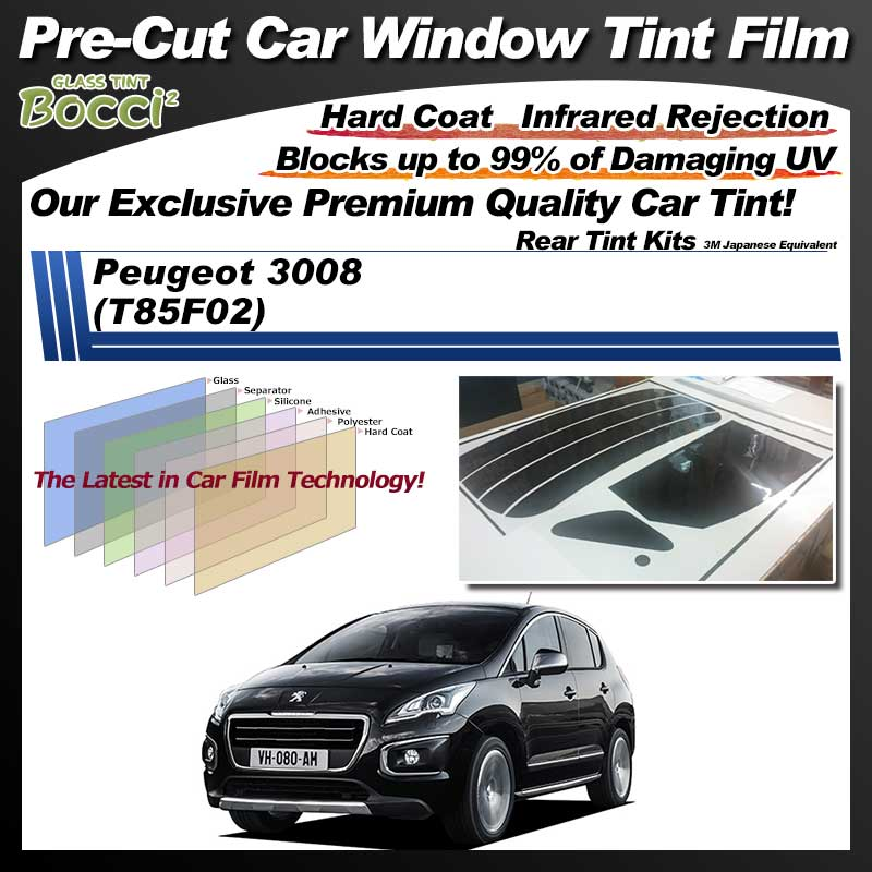 Peugeot 3008 (T85F02) Pre-Cut Car Tint Film UV IR 3M Japanese Equivalent