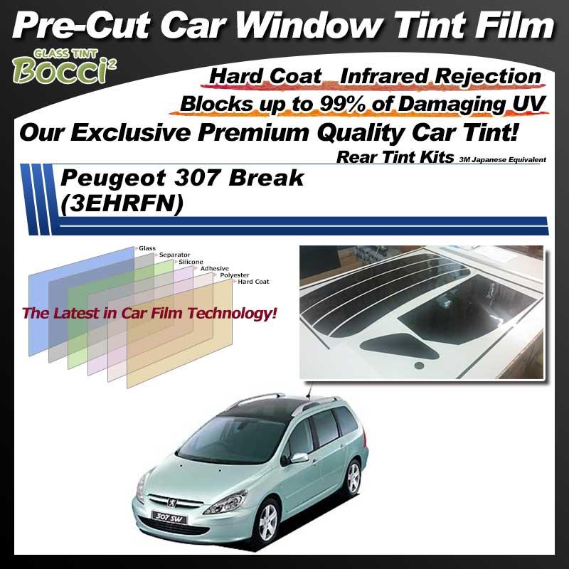 Peugeot 307 Break (3EHRFN) Pre-Cut Car Tint Film UV IR 3M Japanese Equivalent