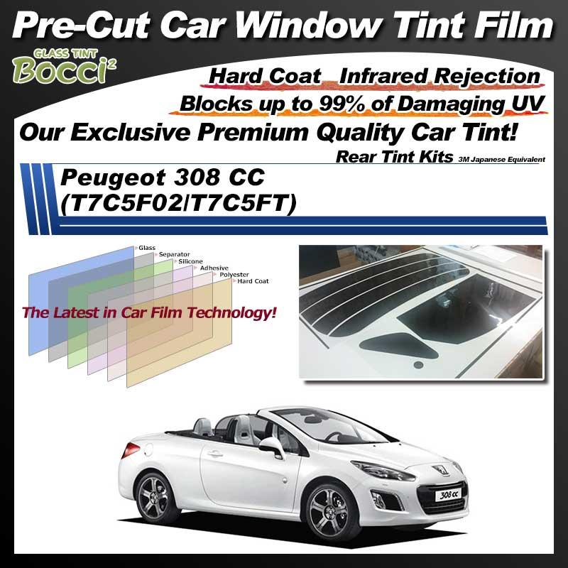 Peugeot 308 CC (T7C5F02/T7C5FT) Pre-Cut Car Tint Film UV IR 3M Japanese Equivalent