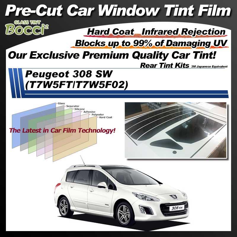 Peugeot 308 SW (T7W5FT/T7W5F02) Pre-Cut Car Tint Film UV IR 3M Japanese Equivalent