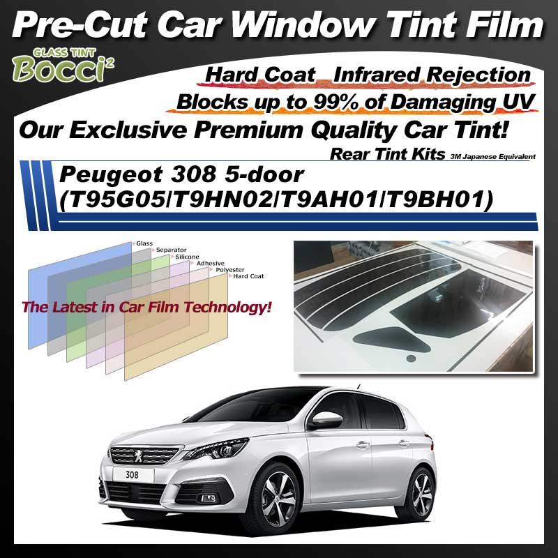 Peugeot 308 5-door (T95G05/T9HN02/T9AH01/T9BH01) Pre-Cut Car Tint Film UV IR 3M Japanese Equivalent