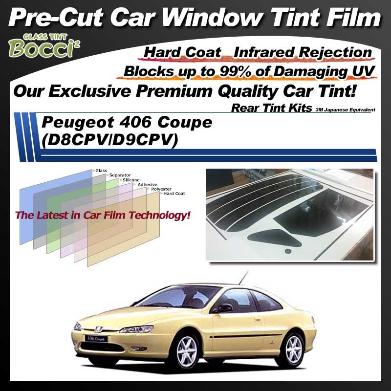 Peugeot 406 Coupe (D8CPV/D9CPV) Pre-Cut Car Tint Film UV IR 3M Japanese Equivalent