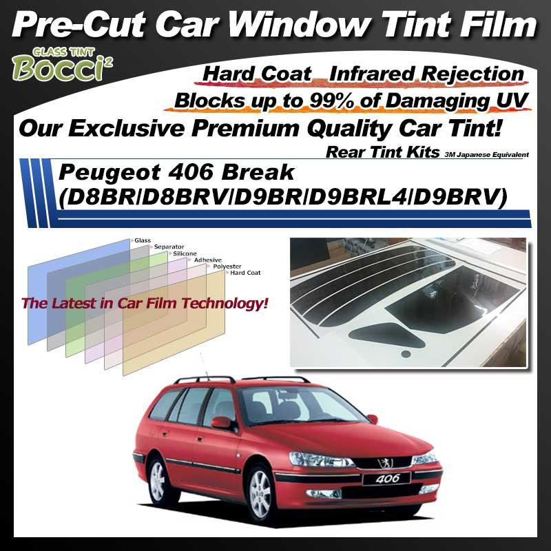 Peugeot 406 Break (D8BR/D8BRV/D9BR/D9BRL4/D9BRV) Pre-Cut Car Tint Film UV IR 3M Japanese Equivalent