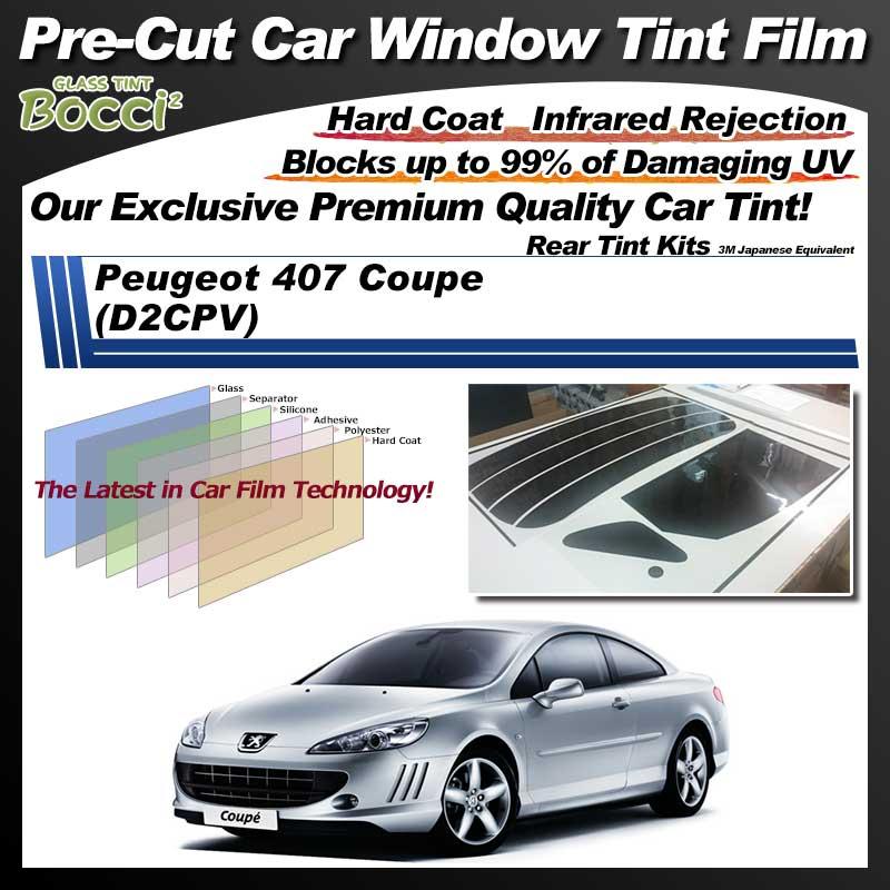 Peugeot 407 Coupe (D2CPV) Pre-Cut Car Tint Film UV IR 3M Japanese Equivalent