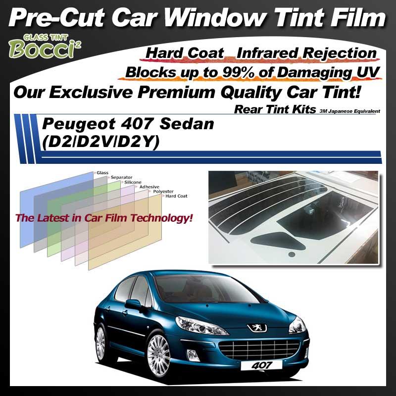 Peugeot 407 Sedan (D2/D2V/D2Y) Pre-Cut Car Tint Film UV IR 3M Japanese Equivalent