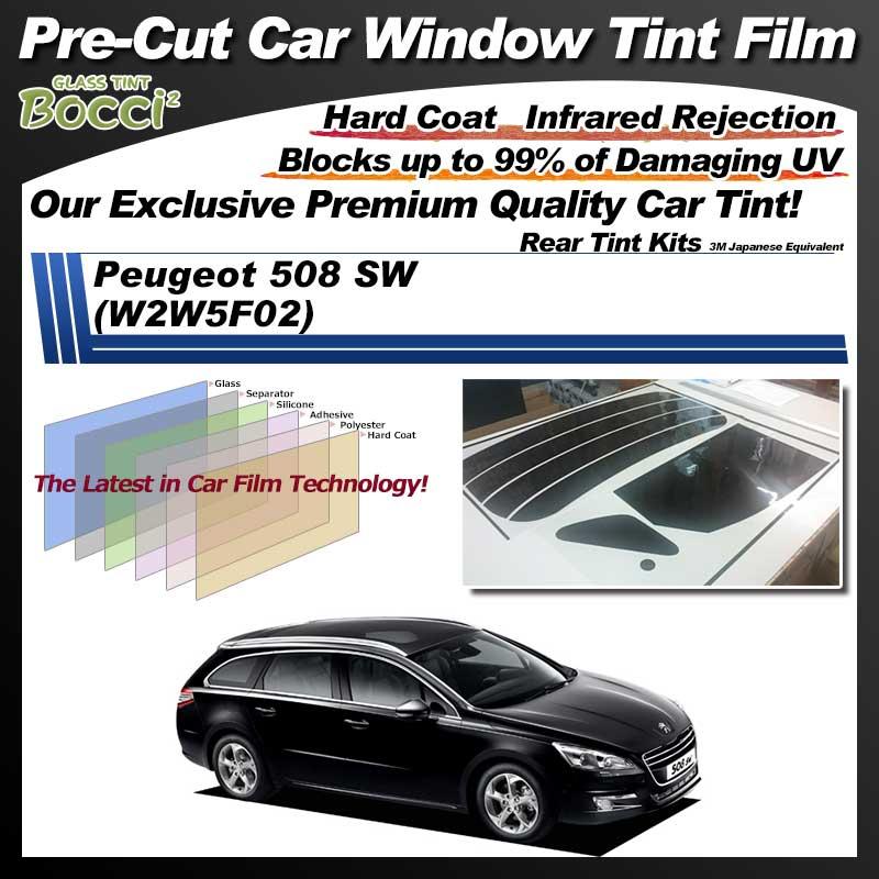 Peugeot 508 SW (W2W5F02) Pre-Cut Car Tint Film UV IR 3M Japanese Equivalent