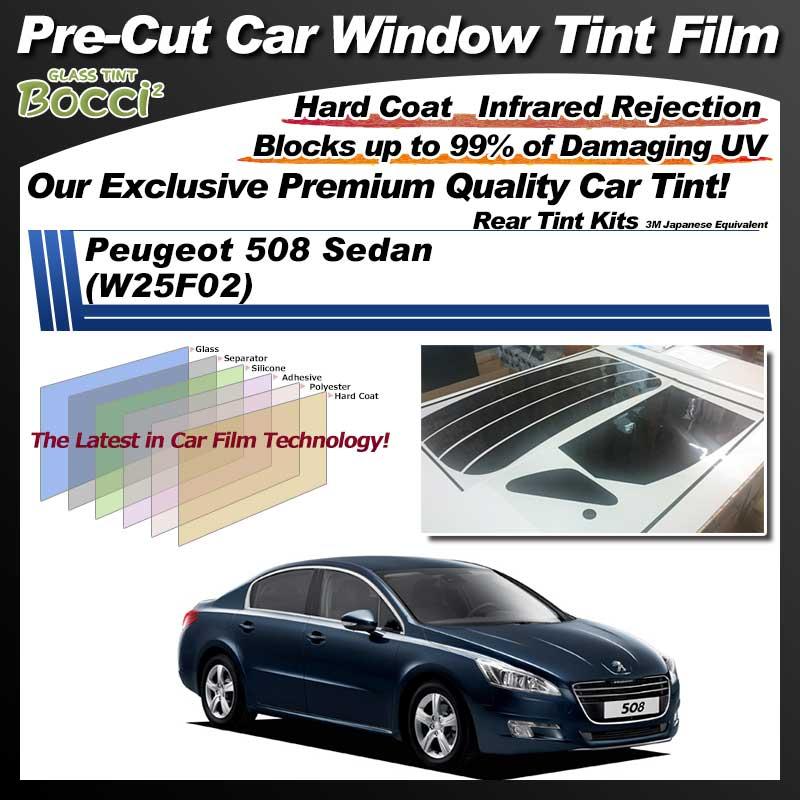 Peugeot 508 Sedan (W25F02) Pre-Cut Car Tint Film UV IR 3M Japanese Equivalent