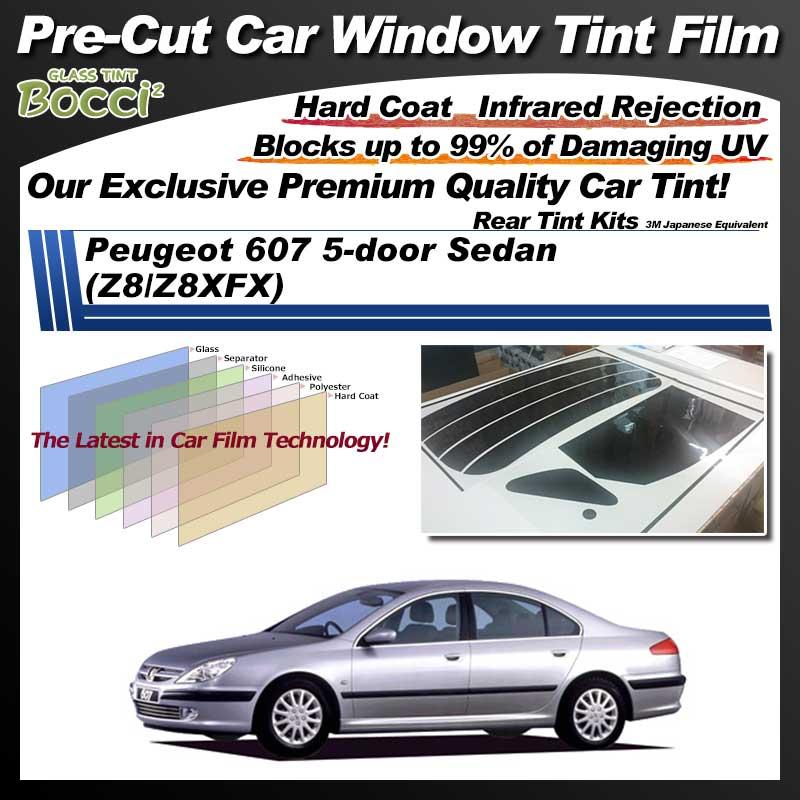 Peugeot 607 5-door Sedan (Z8/Z8XFX) Pre-Cut Car Tint Film UV IR 3M Japanese Equivalent