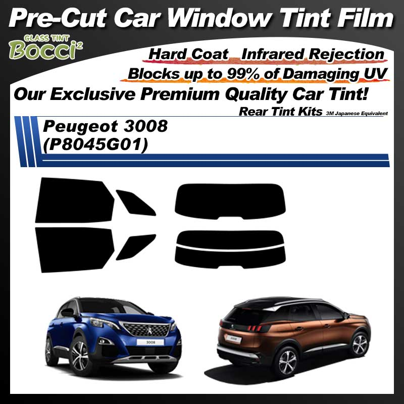 Peugeot 3008 (P8045G01) Pre-Cut Car Tint Film UV IR 3M Japanese Equivalent