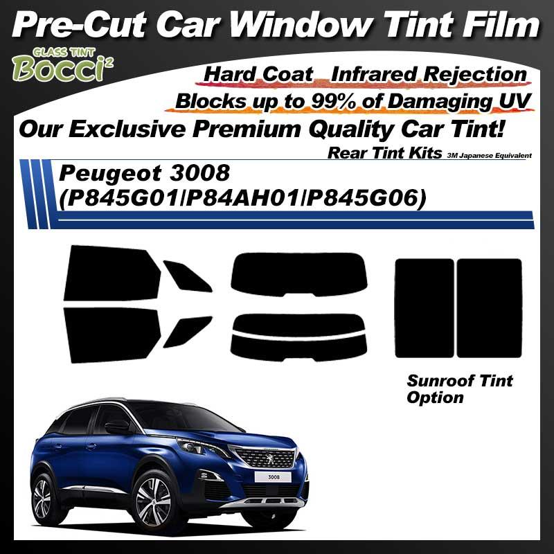 Peugeot 3008 (P845G01/P84AH01/P845G06) With Sunroof Pre-Cut Car Tint Film UV IR 3M Japanese Equivalent