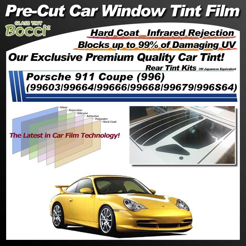 Porsche 911 Coupe (996) (99603/99664/99666/99668/99679/996S64) Pre-Cut Car Tint Film UV IR 3M Japanese Equivalent