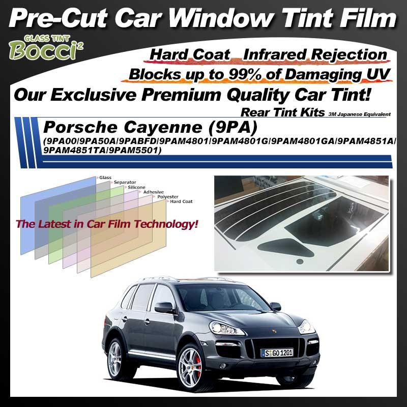 Porsche Cayenne (9PA) (9PA00/9PA50A/9PABFD/9PAM4801/9PAM4801G/9PAM4801GA/9PAM4851A/9PAM4851TA/9PAM5501) Pre-Cut Car Tint Film UV IR 3M Japanese Equivalent
