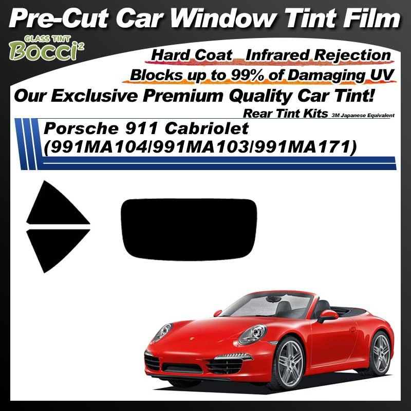 Porsche 911 Cabriolet (991MA104/991MA103/991MA171) Pre-Cut Car Tint Film UV IR 3M Japanese Equivalent