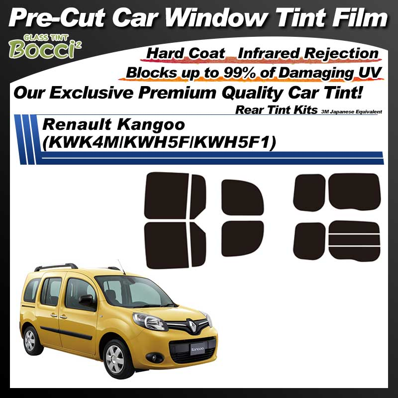 Renault Kangoo (KWK4M/KWH5F/KWH5F1) Pre-Cut Car Tint Film UV IR 3M Japanese Equivalent