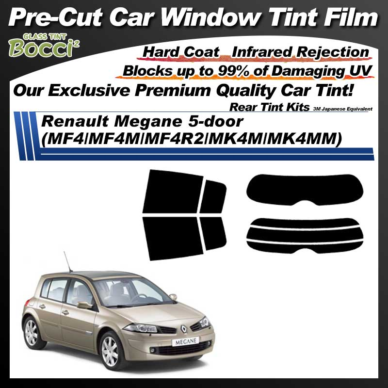Renault Megane 5-door (MF4/MF4M/MF4R2/MK4M/MK4MM) Pre-Cut Car Tint Film UV IR 3M Japanese Equivalent