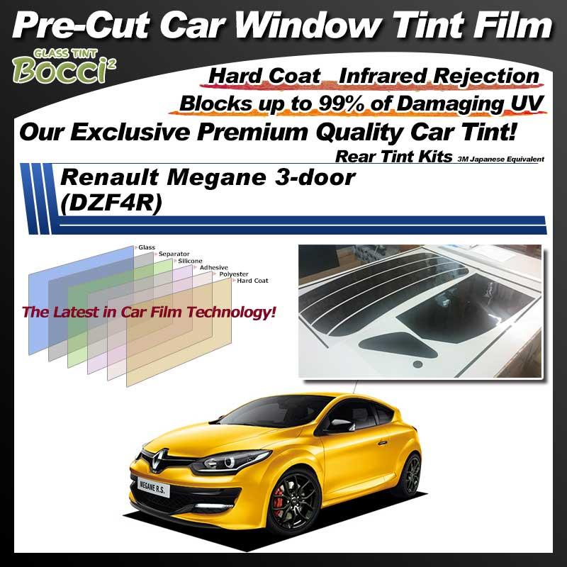 Renault Megane 3-door (DZF4R) Pre-Cut Car Tint Film UV IR 3M Japanese Equivalent