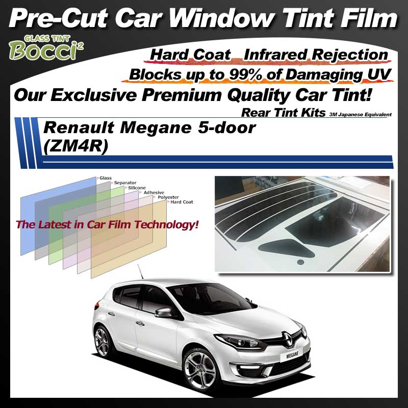 Renault Megane 5-door (ZM4R) Pre-Cut Car Tint Film UV IR 3M Japanese Equivalent