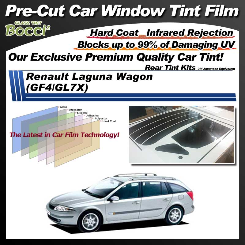 Renault Laguna Wagon (GF4/GL7X) Pre-Cut Car Tint Film UV IR 3M Japanese Equivalent