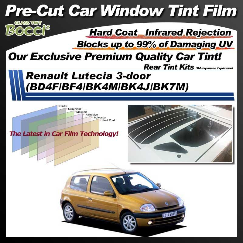 Renault Lutecia 3-door (BD4F/BF4/BK4M/BK4J/BK7M) Pre-Cut Car Tint Film UV IR 3M Japanese Equivalent