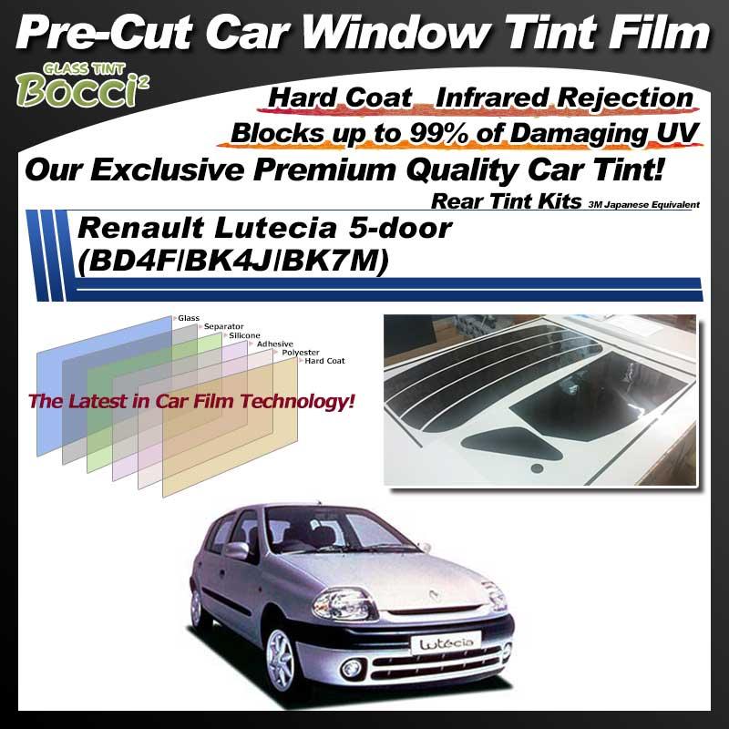 Renault Lutecia 5-door (BD4F/BK4J/BK7M) Pre-Cut Car Tint Film UV IR 3M Japanese Equivalent