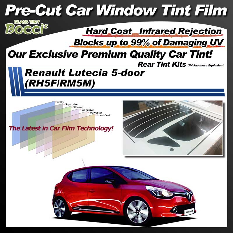 Renault Lutecia 5-door (RH5F/RM5M) Pre-Cut Car Tint Film UV IR 3M Japanese Equivalent