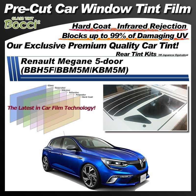 Renault Megane 5-door (BBH5F/BBM5M/KBM5M) Pre-Cut Car Tint Film UV IR 3M Japanese Equivalent