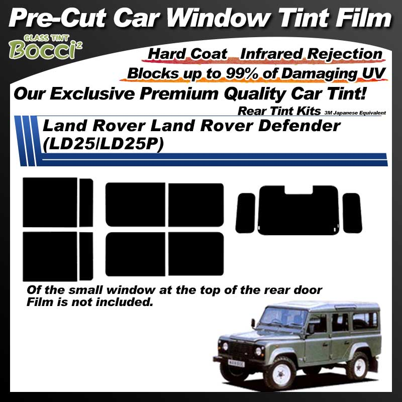 Land Rover Land Rover Defender (LD25/LD25P) Pre-Cut Car Tint Film UV IR 3M Japanese Equivalent