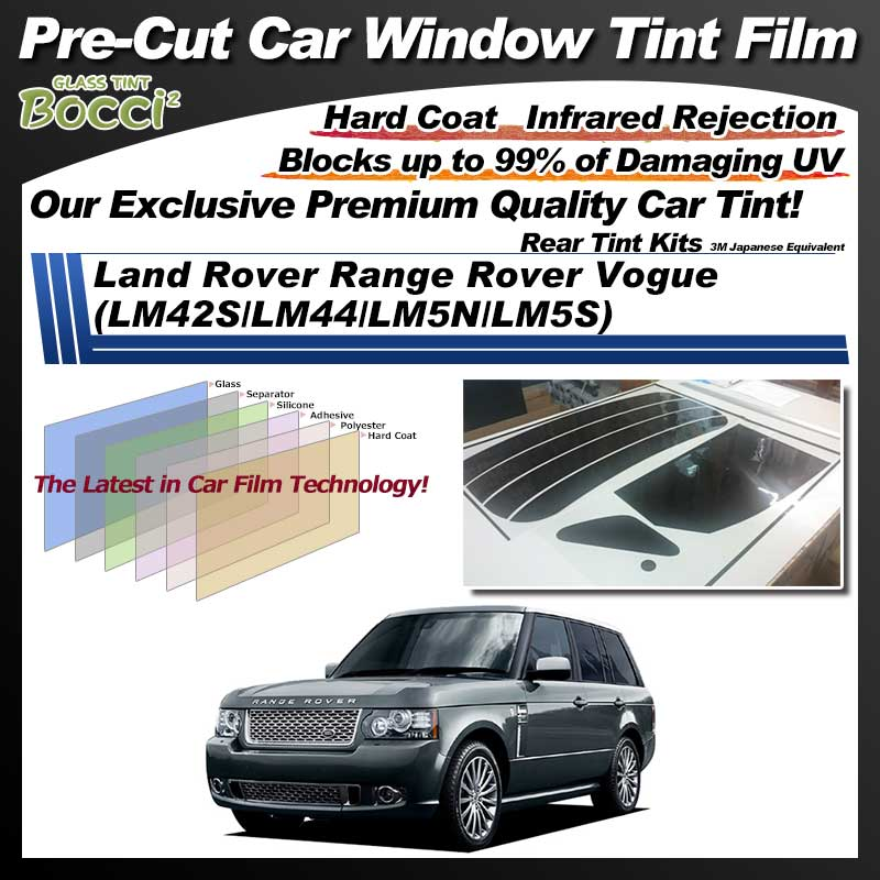 Land Rover Range Rover Vogue (LM42S/LM44/LM5N/LM5S) Pre-Cut Car Tint Film UV IR 3M Japanese Equivalent