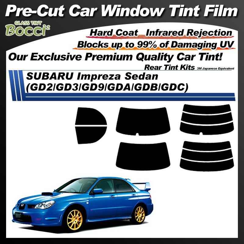 SUBARU Impreza Sedan (GD2/GD3/GD9/GDA/GDB/GDC) Pre-Cut Car Tint Film UV IR 3M Japanese Equivalent
