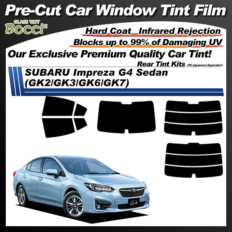 SUBARU Impreza G4 Sedan (GK2/GK3/GK6/GK7) Pre-Cut Car Tint Film UV IR 3M Japanese Equivalent