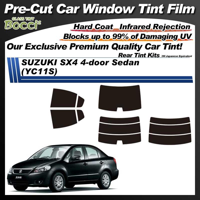SUZUKI SX4 4-door Sedan (YC11S) Pre-Cut Car Tint Film UV IR 3M Japanese Equivalent