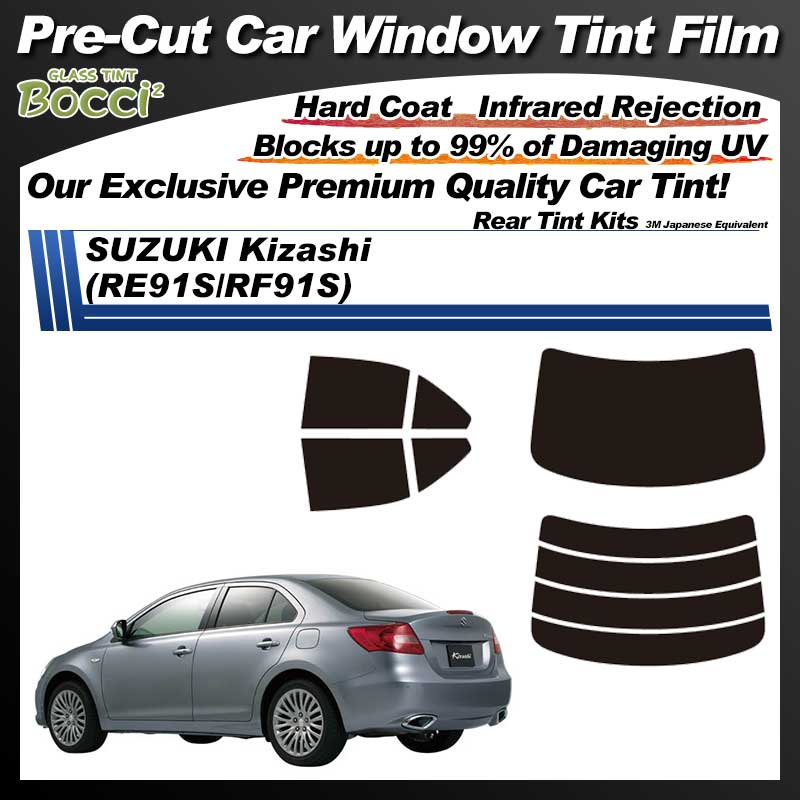 SUZUKI Kizashi (RE91S/RF91S) Pre-Cut Car Tint Film UV IR 3M Japanese Equivalent