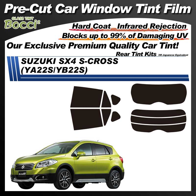 SUZUKI SX4 S-CROSS (YA22S/YB22S) Pre-Cut Car Tint Film UV IR 3M Japanese Equivalent