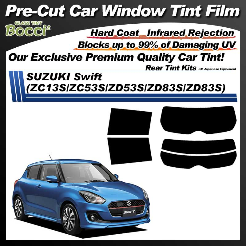 SUZUKI Swift (ZC13S/ZC53S/ZD53S/ZD83S/ZD83S) Pre-Cut Car Tint Film UV IR 3M Japanese Equivalent