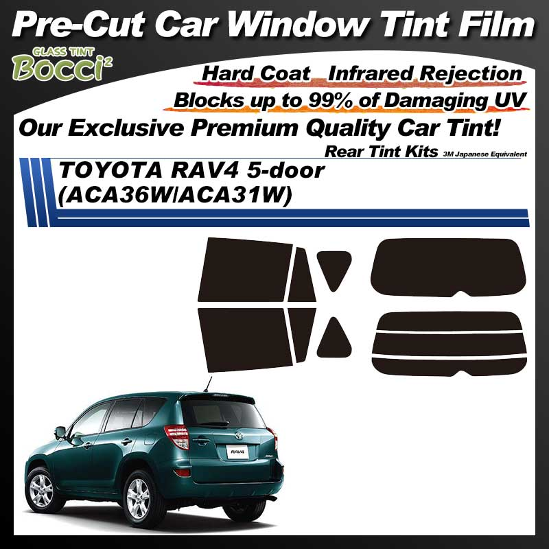 TOYOTA RAV4 5-doors (ACA36W/ACA31W) Pre-Cut Car Tint Film UV IR 3M Japanese Equivalent