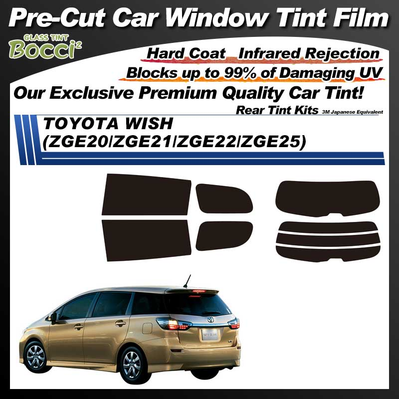 TOYOTA WISH (ZGE20/ZGE21/ZGE22/ZGE25) Pre-Cut Car Tint Film UV IR 3M Japanese Equivalent