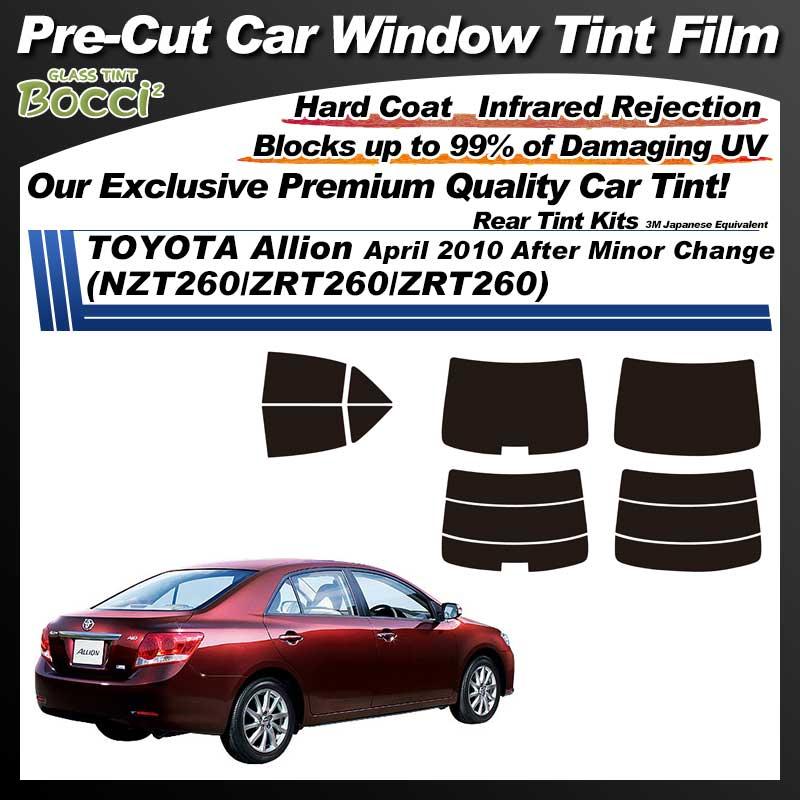 TOYOTA Allion April 2010 After Minor Change (NZT260/ZRT260/ZRT260) Pre-Cut Car Tint Film UV IR 3M Japanese Equivalent