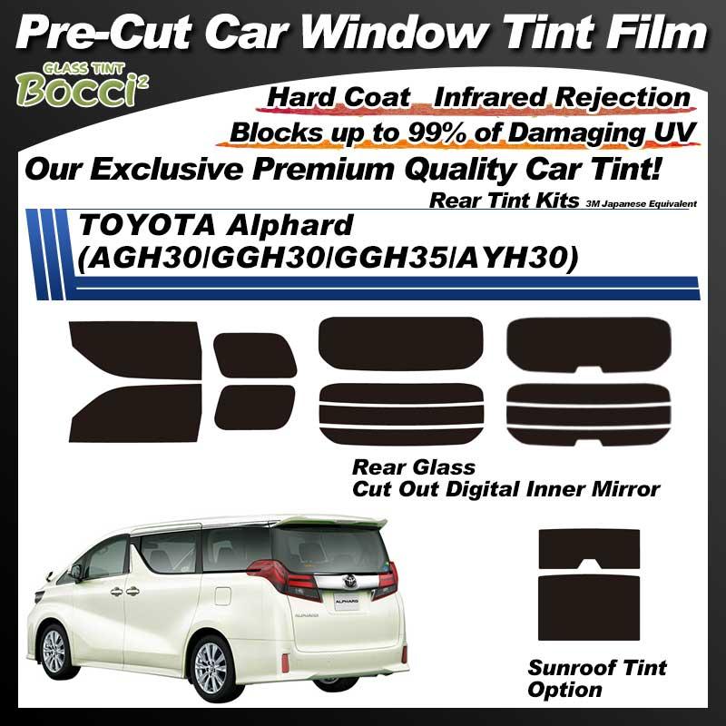 TOYOTA Alphard (AGH30/GGH30/GGH35/AYH30) With Sunroof Pre-Cut Car Tint Film UV IR 3M Japanese Equivalent