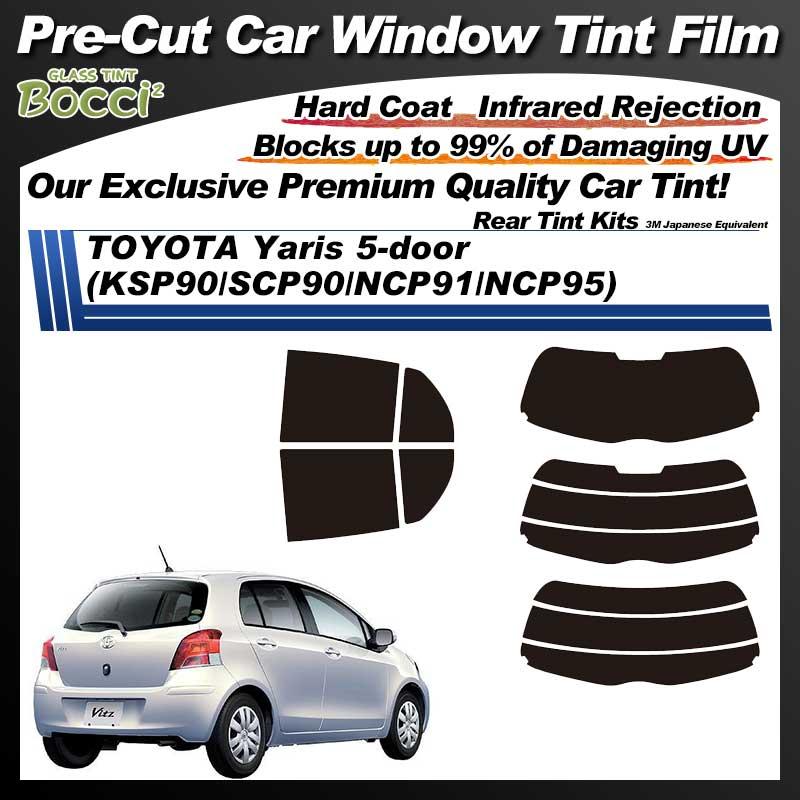 TOYOTA Yaris 5-doors (KSP90/SCP90/NCP91/NCP95) Pre-Cut Car Tint Film UV IR 3M Japanese Equivalent
